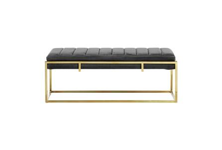 48X18 Multi Color Black Velvet Bench - Main
