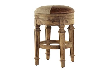 """26"""" Brown Wood Counter Stool"""