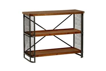 40X32 Brown Wood  Shelving Unit