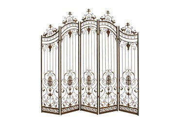 80X80 Brown Iron Room Divider Screen