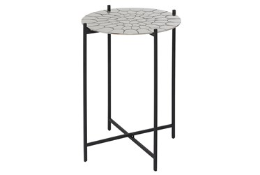 18X25 Silver Aluminum Accent Table