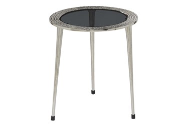 20X22 Silver Aluminum Accent Table
