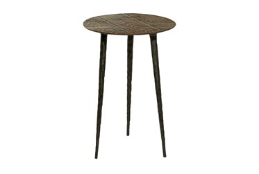 15X22 Brown Aluminum Accent Table