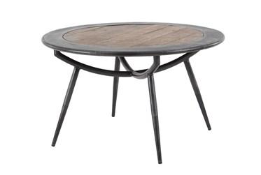 30X17 Grey Iron Coffee Table