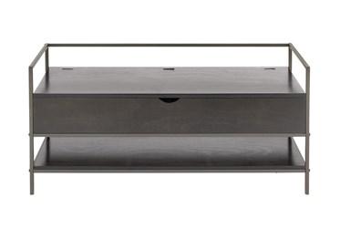 47X23 Brown Iron Storage Bench
