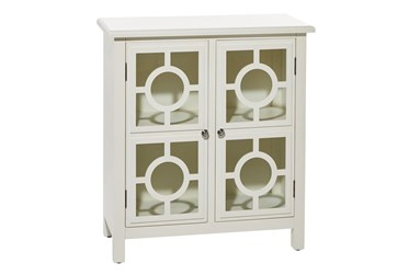 White Wood+Glass Cabinet