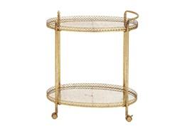 Gold Iron Bar Cart