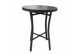 """Bedford Black Outdoor 32"""" Round Bar Table"""