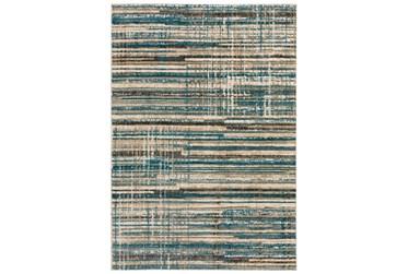"""3'3""""X5'1"""" Rug-Jacinto Blue/Beige Stripes"""