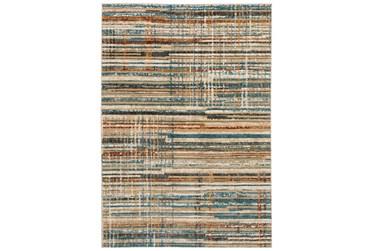 "3'3""X5'1"" Rug-Jacinto Blue/Orange Stripes"