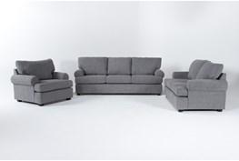 Hampstead Graphite Sofa/Loveseat/Chair Set